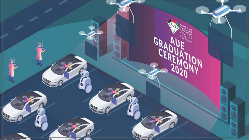 Drones to hand over certificates at drive-in graduation ceremony in Dubai
