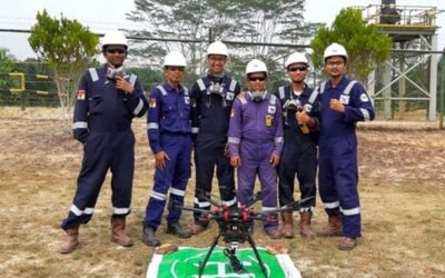 Terra Drone Conducting Drone Flare Stack Inspection for Chevron